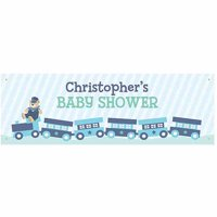Personalized Choo Choo Train Baby Shower Banner