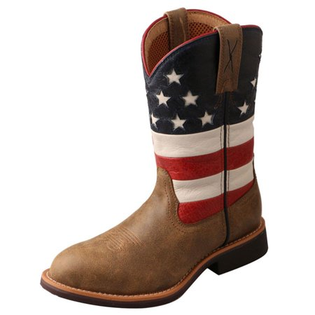 Twisted X Western Boots Boys Girls Cowkid Work Leather ...
