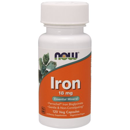 - NOW Supplements, Iron 18 mg, 120 Veg Capsules