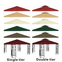 Outdoor 10' x 10' Patio Canopy Gazebo Top Replacement - 1 Tier