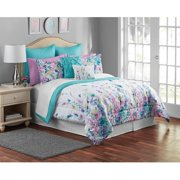Mainstays Multi-Color Floral 12-Piece Bedding Comforter Set