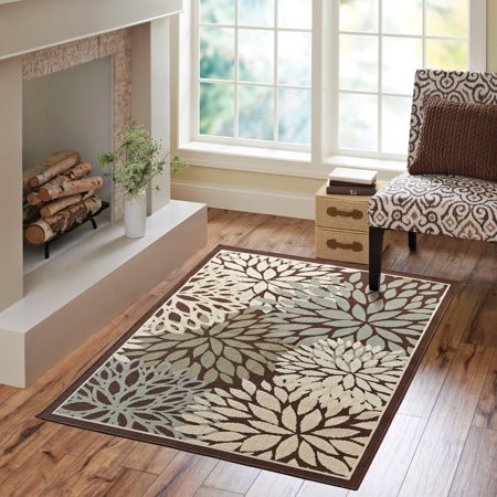 Better Homes And Gardens Mixed Fl Rug Dark Brown