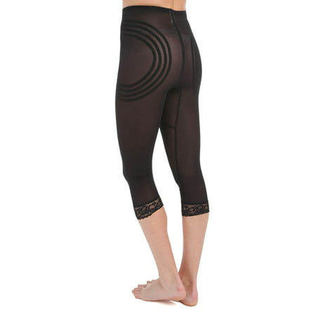 Women's Rago 6269 Shapette Capri Pant Liner with Contour Bands (Black XL) - image 2 of 4