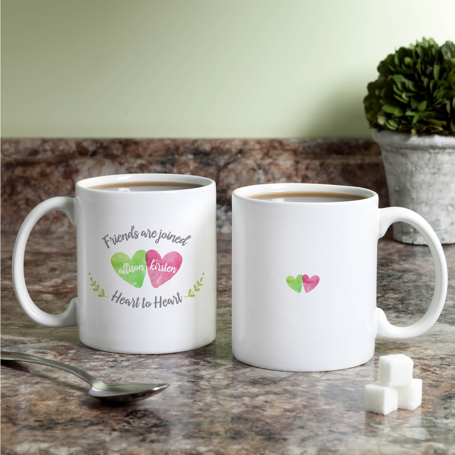 Two Friends Personalized Coffee Mug