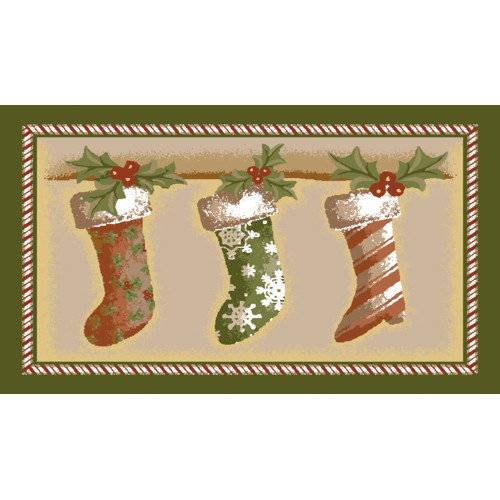 Brumlow Mills Holiday Stockings Novelty Rug
