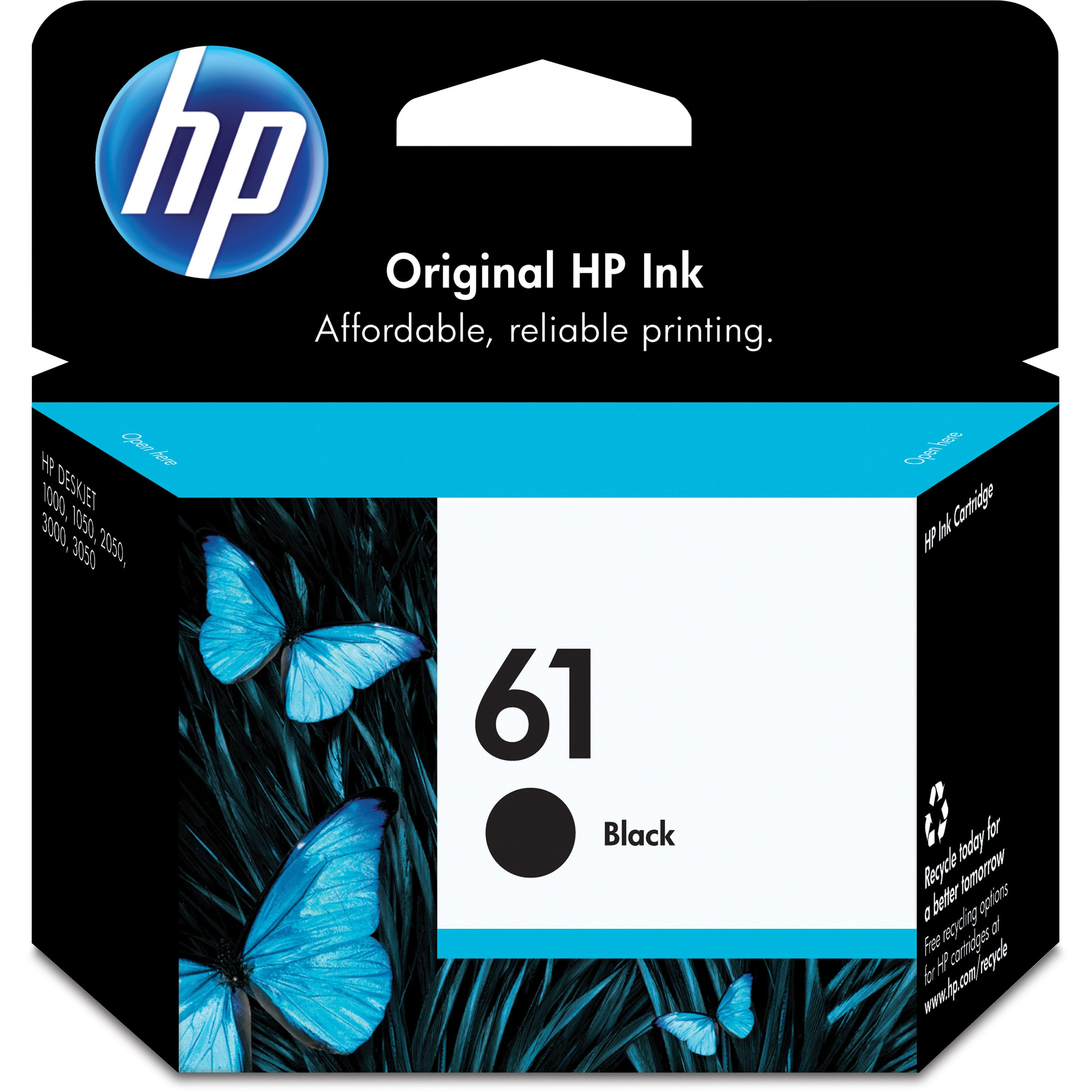 HP 61 Original Ink Cartridge, 1 Each (Quantity)