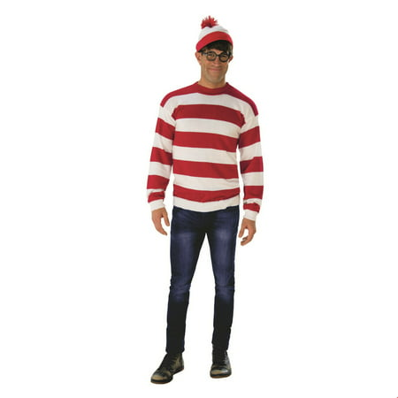 Men's Deluxe Where's Waldo (Where's Waldo Costume Boy)