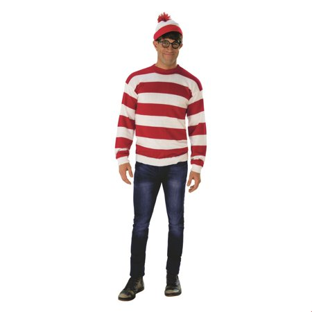 Where's Waldo Adult Deluxe Halloween Costume for $<!---->