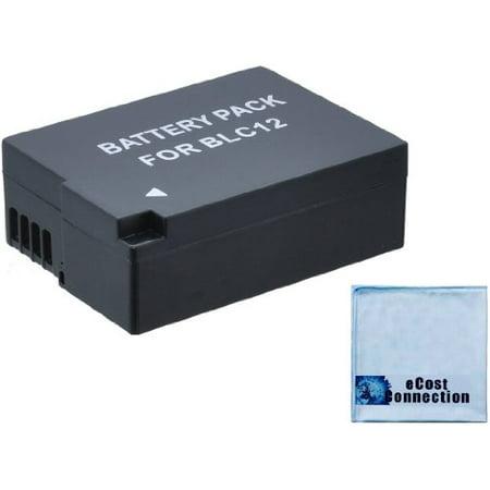 DMW-BLC12 Battery for Panasonic Lumix DMC-GH2, DMC-G5, DMC-FZ200, Camera BLC12, DMC-G6, DMC-GH2K, DMC-GH2S Camera + eCostConnection Microfiber Cloth - image 1 de 1