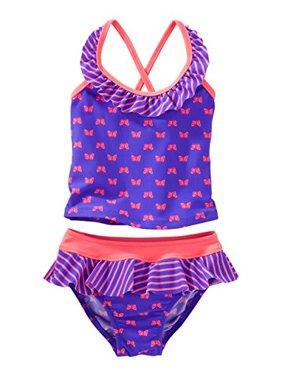 82fb63076 Product Image Oshkosh B'gosh Baby Girls' Butterfly Print Tankini; Purple,  (12-