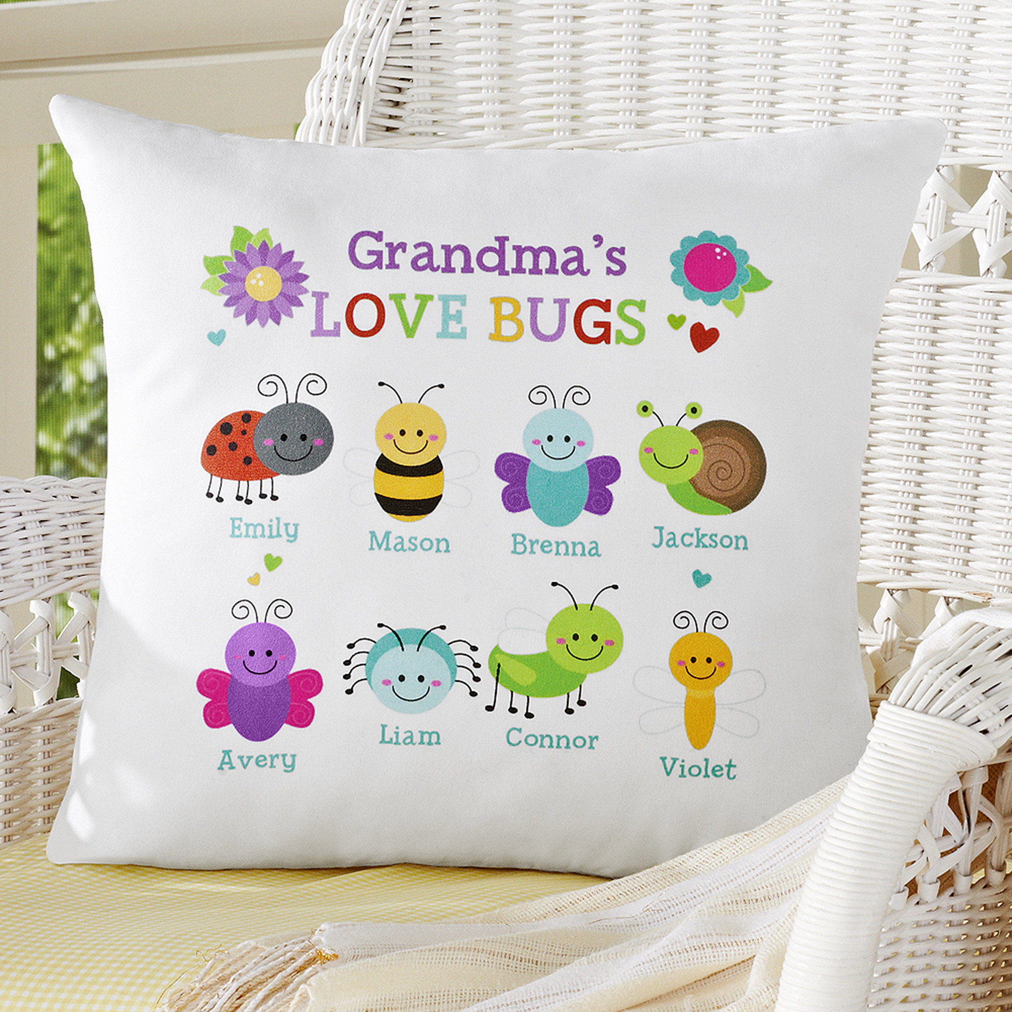 Personalized Love Bugs Pillow