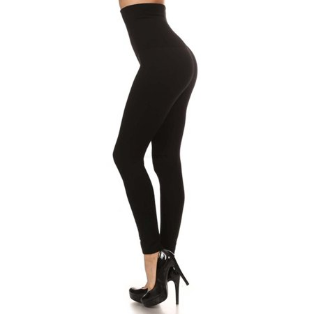 Premium Women Thick High Waist Tummy Compression Slimming Leggings French Terry Lining