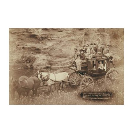 Tallyho Coaching. Sioux City Party Coaching at The Great Hot Springs of Dakota Print (Unframed Paper Print 20x30)