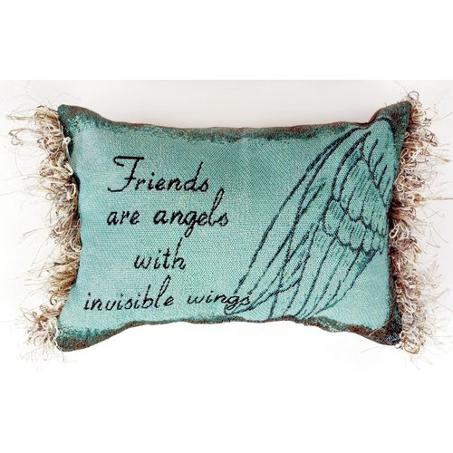 Manual Woodworkers & Weavers Friends are Angels Word Lumbar Pillow