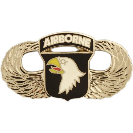 Black Airborne Wing - U.S. Army 101st Airborne Division Wings Pin 1 1/4