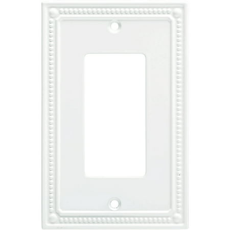 Franklin Brass Classic Beaded Single Decorator Wall Plate in Pure White