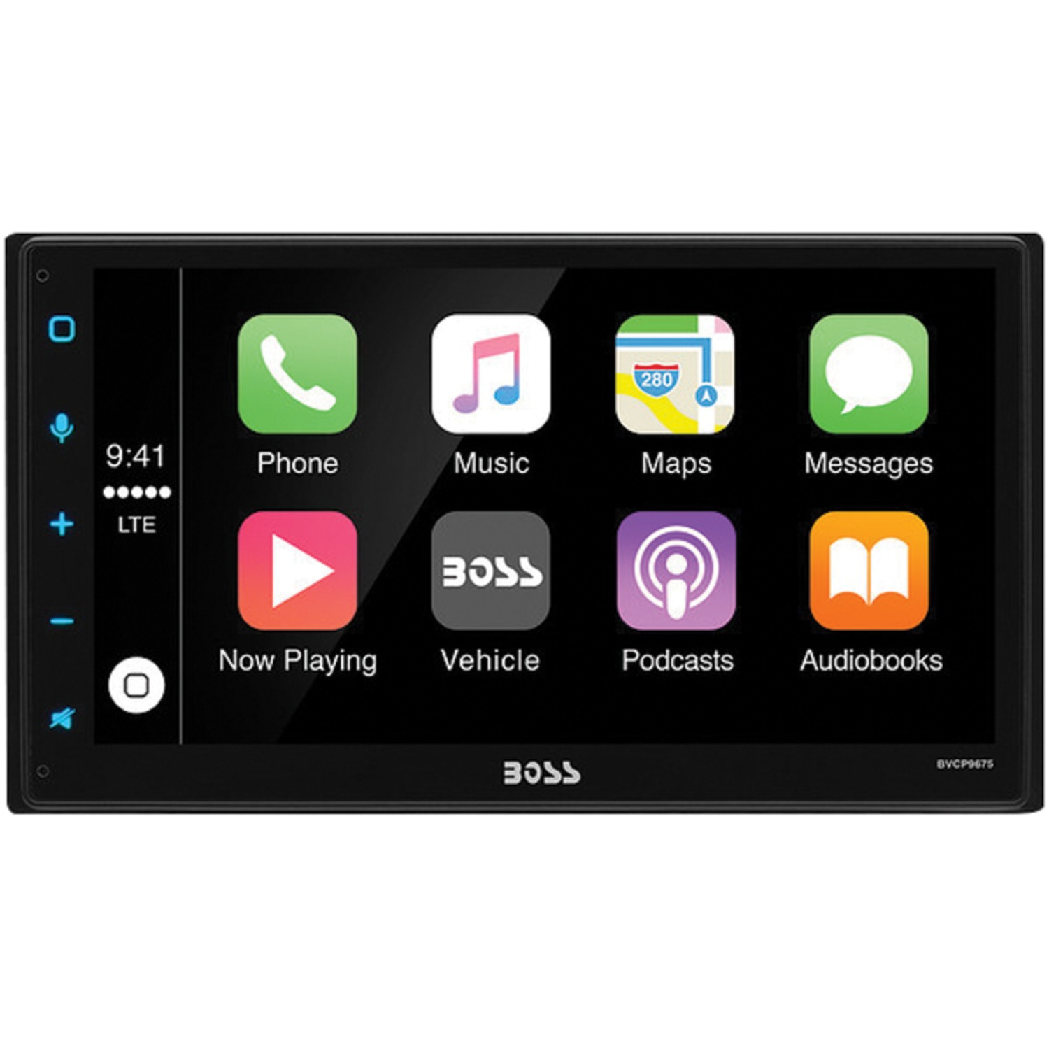 "Boss Audio Systems BVCP9675A 6.75"" Double-DIN In-Dash Digital Media AM/FM Receiver with Bluetooth, Apple CarPlay & Android Auto"