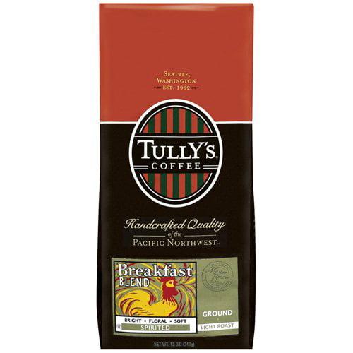 Tully's Coffee Breakfast Blend Light Roast Ground Coffee, 12 oz