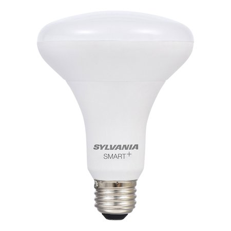 Dimmable Electronic - Sylvania SMART+ Dimmable White Smart BR30 Light Bulb, 60W Equivalent, Hub Required