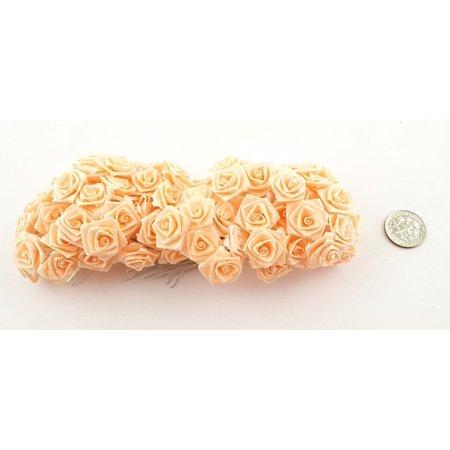 144 Medium Wrap Rose Wedding Flower Pick - Peach](Flower Picks)