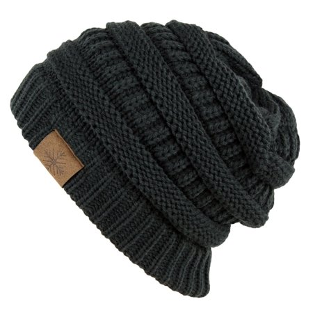 5ce9325b7 Winter Warm Thick Cable Knit Slouchy Skull Beanie Cap Hat