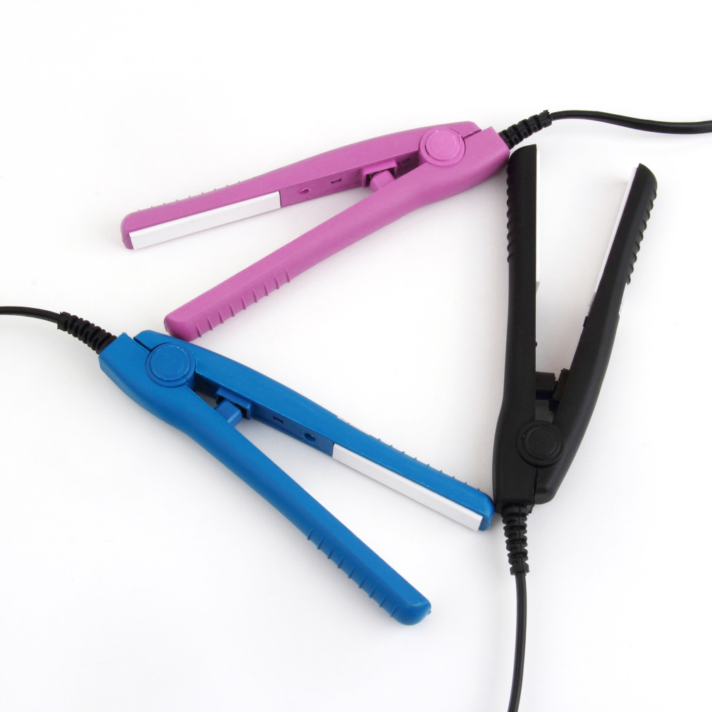 OUTAD Mini Travel Ceramic Hair Curl Straightener Flat Iron Perm Splint Perm Splint