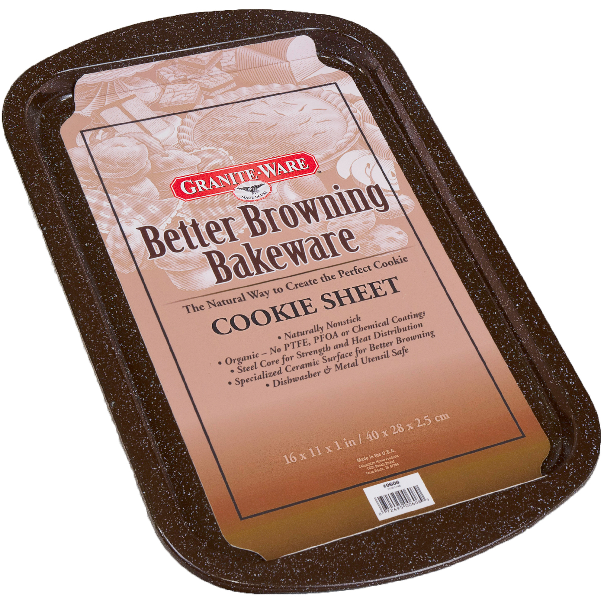 Granite Ware Better Browning Bakeware Large Cookie Sheet, Brown