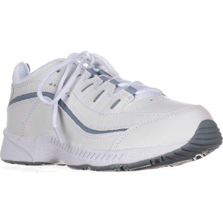 Womens Easy Spirit Romy Comfort Walking Sneakers, White/Medium Blue ()