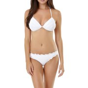 Juniors' Rouched Triangle Bikini Top