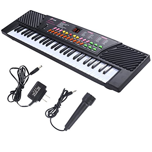 Gracelove New 54 Keys Music Electronic Keyboard Kid Electric Piano Organ W/Mic & Adapter