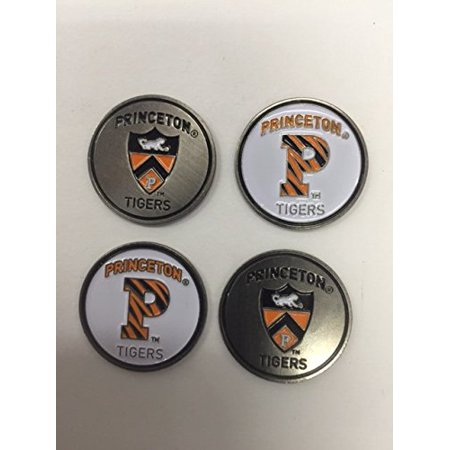 Princeton Tigers Ball Marker Set of 4 markers:  fits hat clip , divot tool