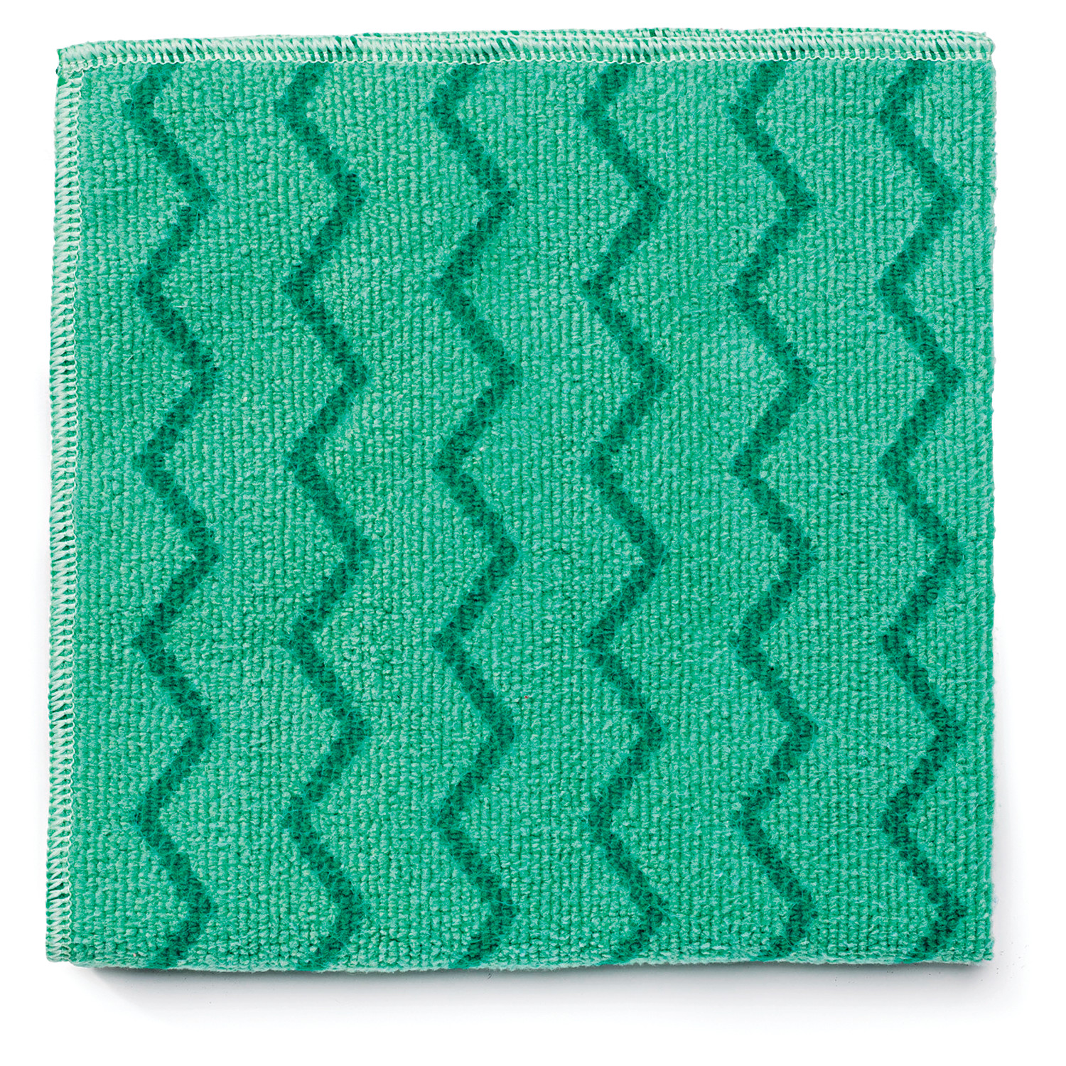 Rubbermaid Commercial Green Microfiber Reusable Cleaning Cloths, 12 ct