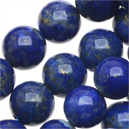 Natural Lapis Gemstone Beads  Round 6Mm  15 5 Inch Strand  Deep Blue