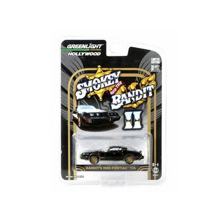 "1980 Pontiac Firebird Trans Am Black ""Smokey And The Bandit II"" Movie Car 1/64 Diecast Model Car by Greenlight"