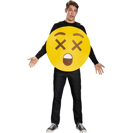 X-Ray Eyes Emoticon Adult Halloween Costume, One Size, Up to 52 - 100 Pics Halloween 52