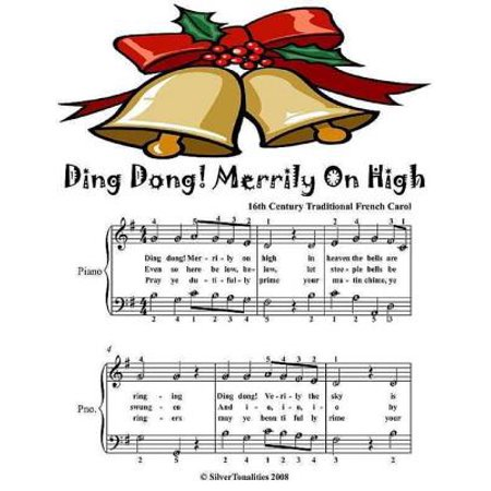 Ding Dong Merrily On High - Easy Piano Sheet Music Junior Edition - eBook Christmas Carols Ding Dong Merrily On High