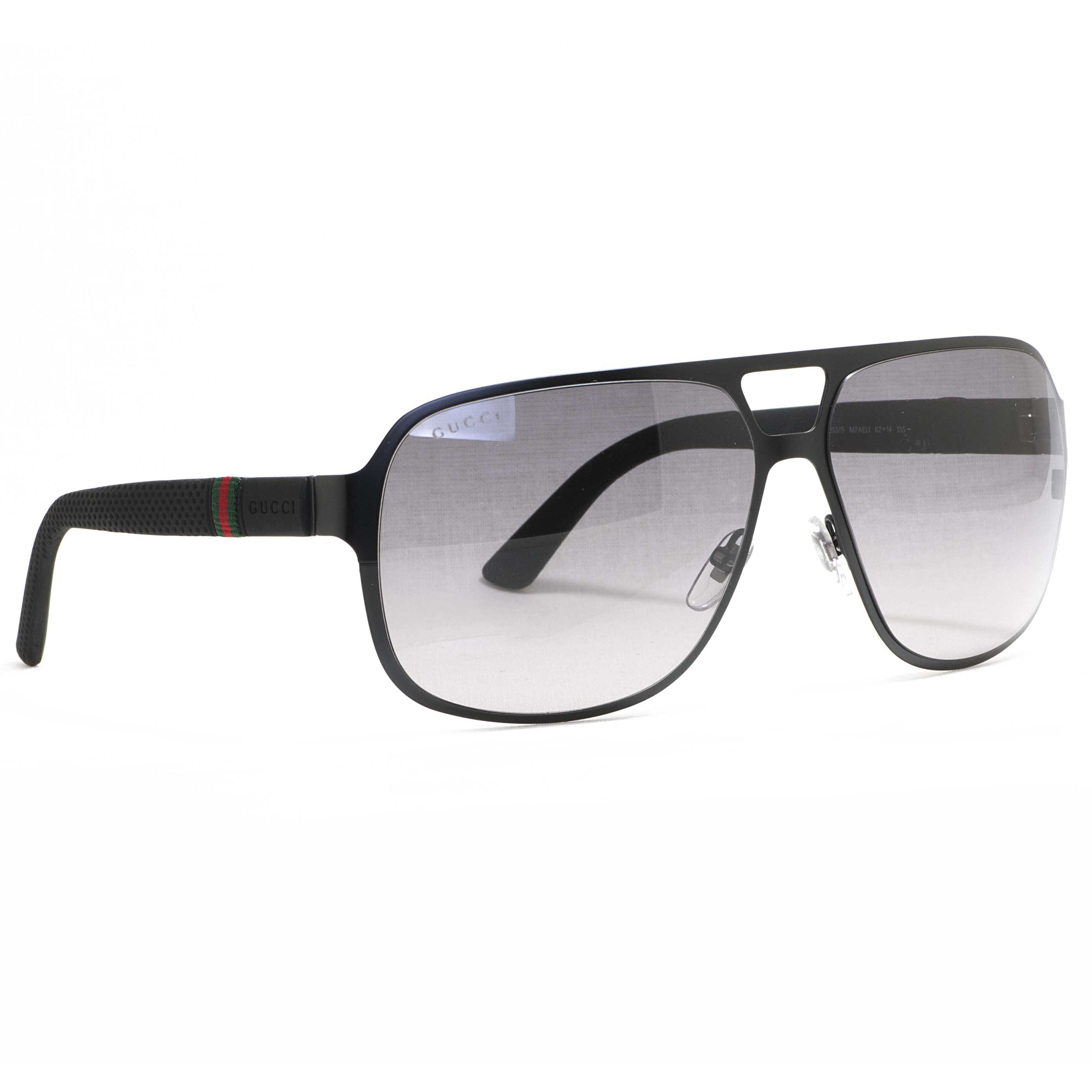 2a75e20a7aa56 GUCCI - Gucci GG 2253 S 0M7A EU Semi Matte Black Grey Gradient Men s Aviator  Sunglasses - Walmart.com