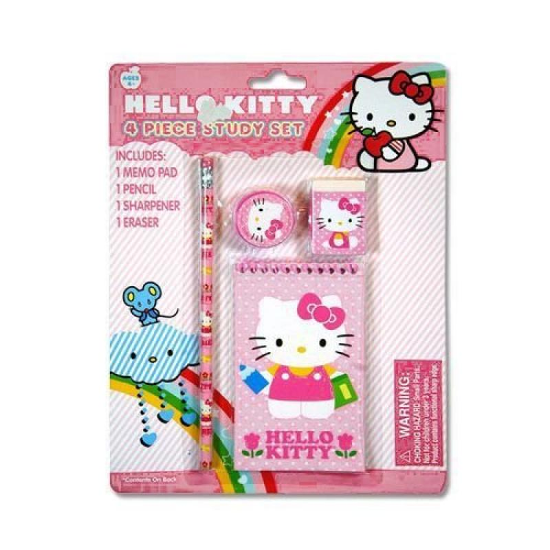 Hello Kitty 4pc Study Kit on Blister Card by