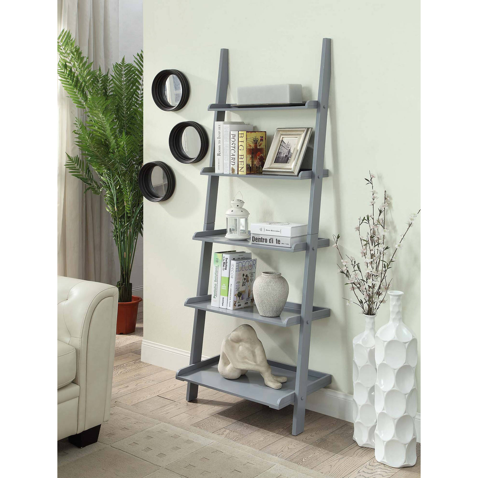 Convenience Concepts American Heritage 5-Shelf Ladder Bookcase, Multiple Finishes by Convenience Concepts