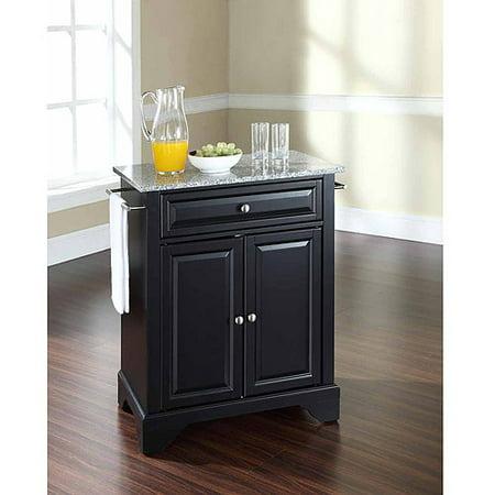 Crosley Furniture LaFayette Solid Granite Top Portable Kitchen Island