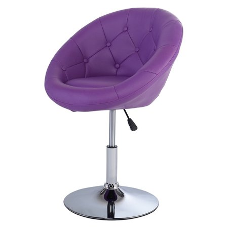 Surprising Gymax Pu Leather Adjustable Modern Chair Swivel Round Tufted Forskolin Free Trial Chair Design Images Forskolin Free Trialorg