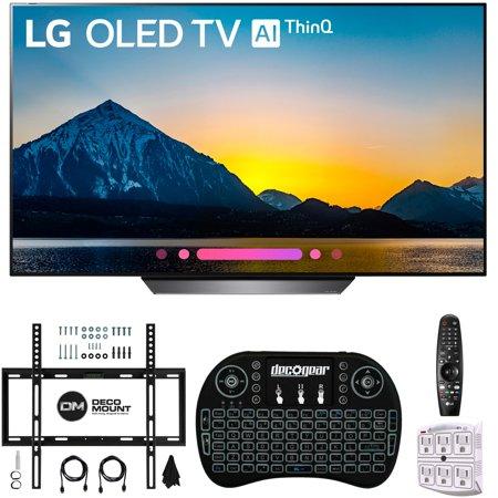 """LG OLED65B8PUA 65"""" HDR OLED 4K AI Smart TV & Wireless Keyboard+ Wall Bracket Bundle (65B8PUA OLED65B8P OLED65B8)"""