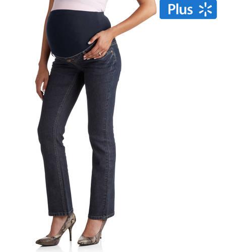 Planet Motherhood Maternity Plus-Size Full-Panel 5-Pocket Bootcut Jeans