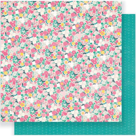 American Craft Crate Paper Cute Girl Collection 12 X 12 Double Sided Paper Fancy](Fancy Paper)