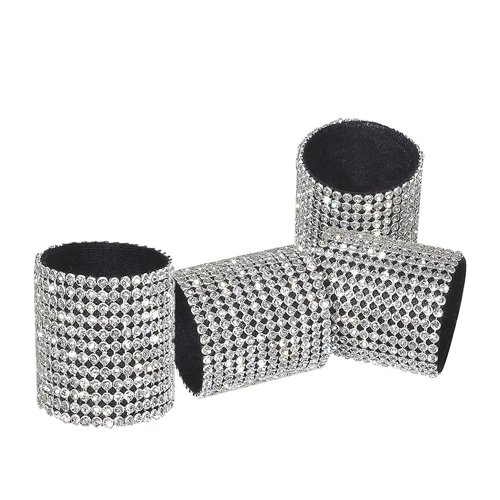 Red Pomegranate Diamond Napkin Ring (Set of 4)