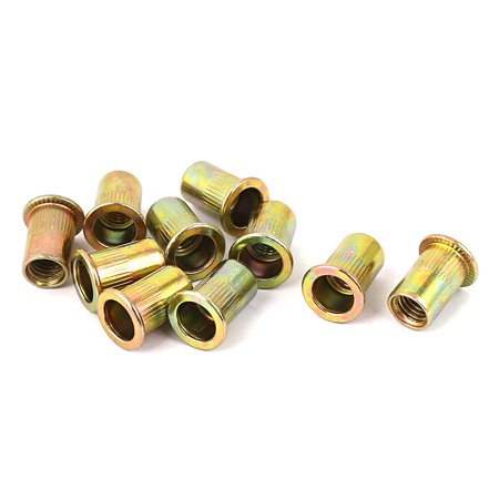 Hardware Mountings Brass Knurled Inserts Embedded Parts Thumb Nut M8 10pcs