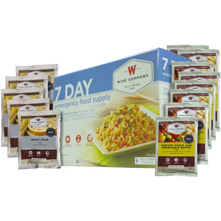 Wise Company 7 Day Emergency Food Supply, 112 oz