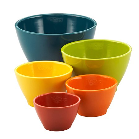 Melamine Nesting Measuring Cups, 5-Piece Set, Assorted, Set includes five no-fuss nesting measuring cups in standard sizes for cooking, baking, prepping By Rachael Ray