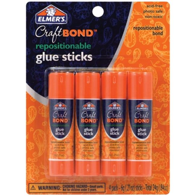 Elmers-X-Acto 484293 Elmers Repositionable Glue Sticks 4-Pkg-. 21 Ounces Each