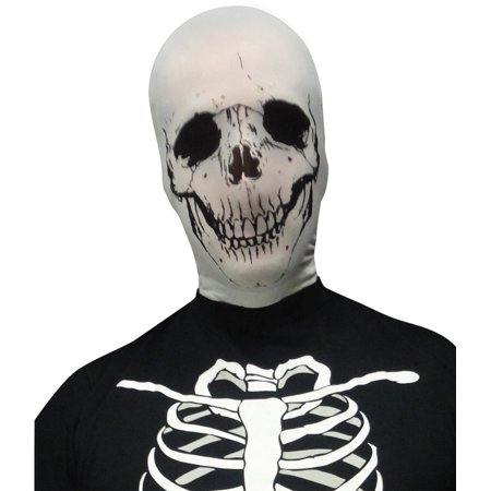 Scary Evil Skeleton Skull Stocking Fabric Mask Costume Accessory](Scary Rabbit Mask Halloween)